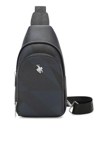 Swiss Polo black Monogram Chest Bag 97221AC2FE272DGS_1