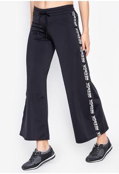 9216a2e825b20a Reebok black Workout Knit Wide Leg Pants 26EEBAAA530985GS 1