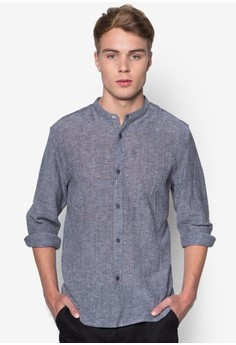 Nt - Crinkled Texture Long Sleeve Shirt