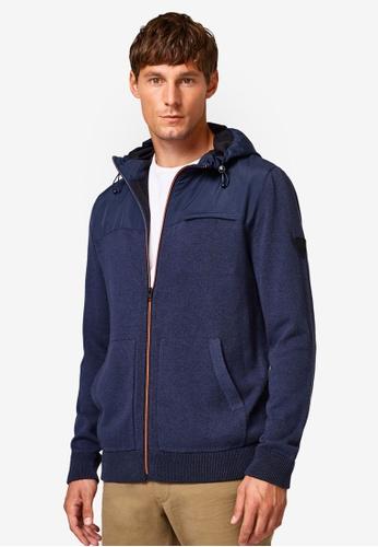 ESPRIT 海軍藍色 休息連帽外套 07887AA484AAB8GS_1