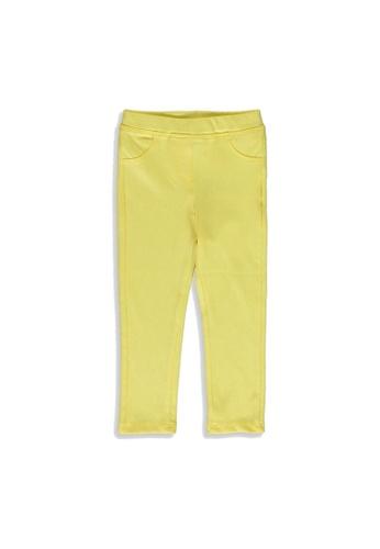 LC Waikiki yellow Baby Girl's Cotton Long Leggings CE88AKAF07ECF9GS_1