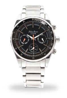 Analog Watch 3325SS-BK-OR-Hand