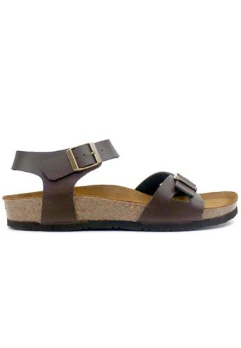SoleSimple 褐色 Naples - 棕褐色 百搭/搭帶 軟木涼鞋 3AAAESH732D744GS_1