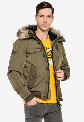 Superdry green Chinook Rescue Bomber Jacket C5B24AAB55F435GS_1