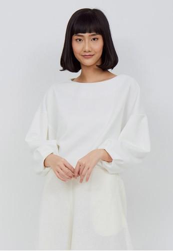 Kimora Kei white Kimora Kei Baju Wanita Hikari Top Whisper White CCCFFAA041B751GS_1