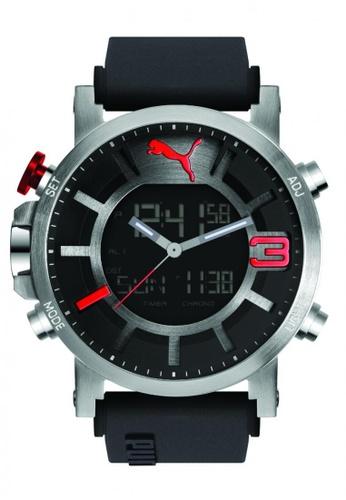 Puma black PU911371001 Ultrasize Ana-Digital Silver Red Men Watch PU549AC0RKH8MY_1