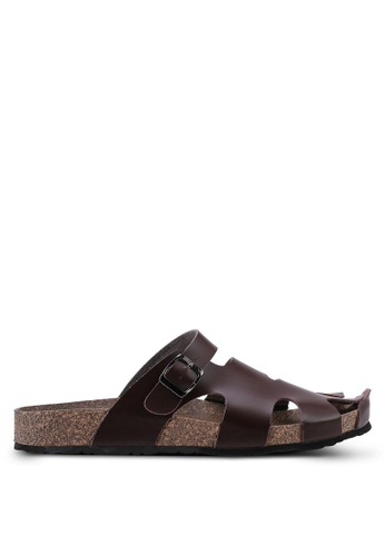 Bata brown Slip On Sandals 50095SH172E0FDGS_1