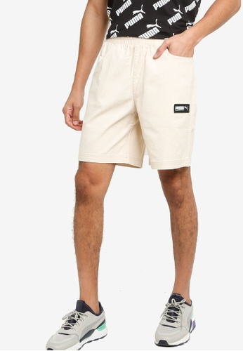 Puma beige Fusion Shorts 465ADAAFCE636AGS_1