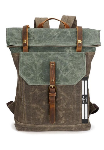 Twenty Eight Shoes Vintage Leather Wax Canvas Backpack 5191-1 0D54FAC445247AGS_1