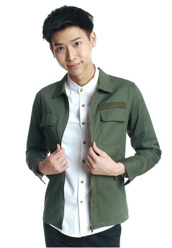 Praise green Lightweight Jacket PR067AA0FGZCSG_1