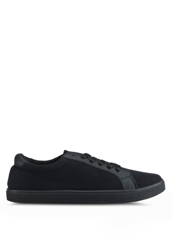 Penshoppe black Canvas Sneakers 4FDC8SH5802268GS_1