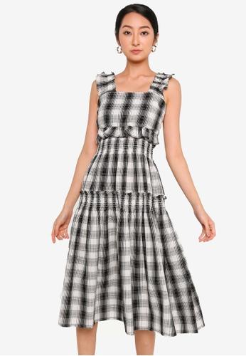 URBAN REVIVO grey Sleeveless Dress FE173AAE8C854EGS_1