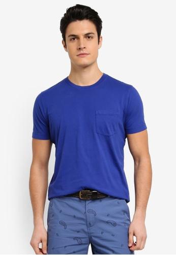 Brooks Brothers 海軍藍色 素色休閒T恤 38185AA0B196F0GS_1