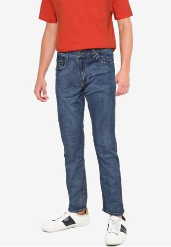 Fidelio 藍色 603 直管裁剪 彈性 牛仔褲 52A56AA459FAC0GS_1