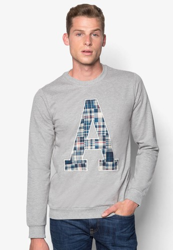 A 格紋字母長袖esprit鞋子衫, 服飾, 服飾
