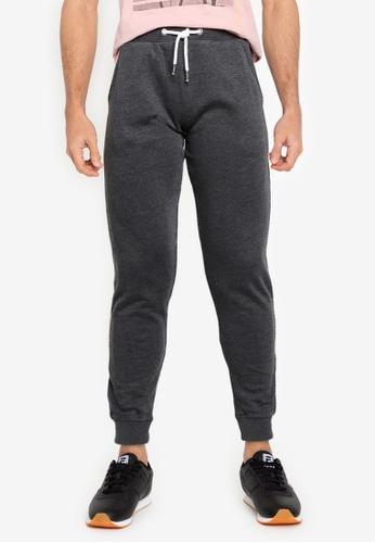 !Solid grey Basic Sweatpants 83BA5AA0AE10F0GS_1