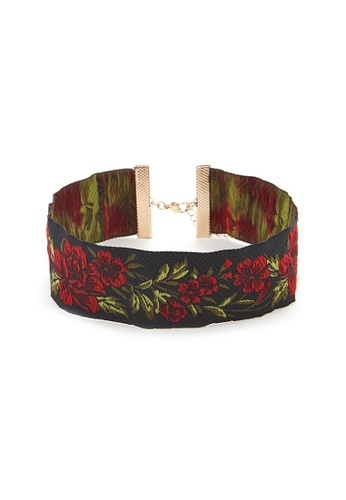 LUCCACAL Floral Embroidered Choker LU294AC30TFDMY_1
