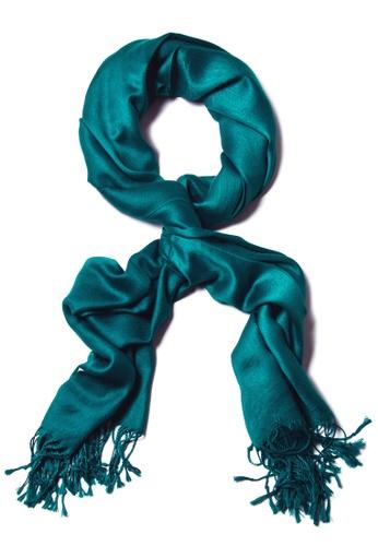 SHINE green Turquoise Premium Pashmina Shawl 8246BAA36DA0CDGS_1