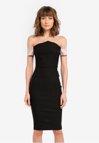 Vesper black Vesper Dalston Bardot Dress VE733AA0SM1ZMY_1