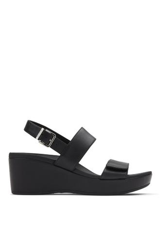 Vionic black Lovell Wedge Sandal EDFB5SHDE5E3A9GS_1