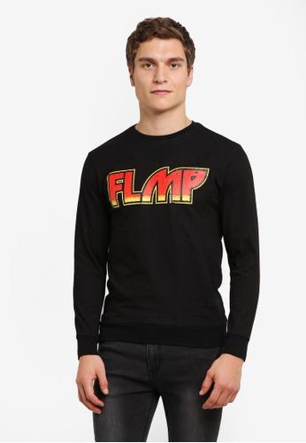 Flesh IMP 黑色 Printed Sweater FL064AA0RTOUMY_1