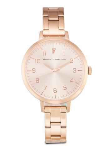 FCUK FC1248RGM 數字細鍊錶, 錶類, 不zalora 衣服評價銹鋼錶帶