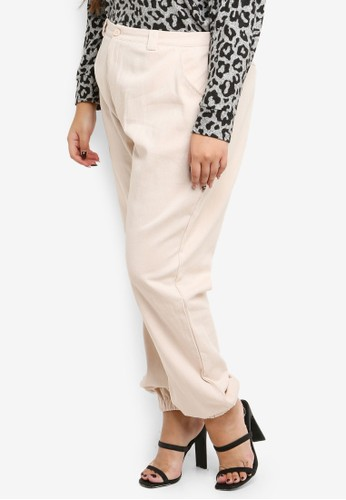 MISSGUIDED beige Plus Size Combat Trousers 41E64AA62BEFDCGS_1