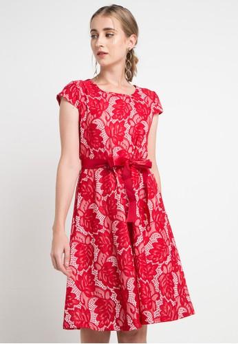 SIMPLICITY red and multi Lace Mini Dress 89FB2AA0E13A36GS_1