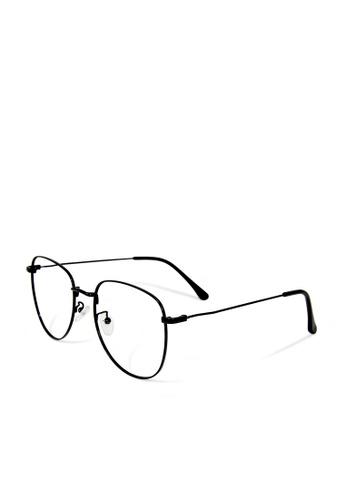 ASLLY black Peter Pan's bedside story│Pilot Anti-blue light glasses with black frame DC7B0GL4781340GS_1
