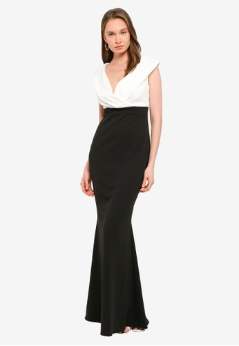 Goddiva multi Front Wrap Off The Shoulder Maxi Dress 29484AAB10031AGS_1