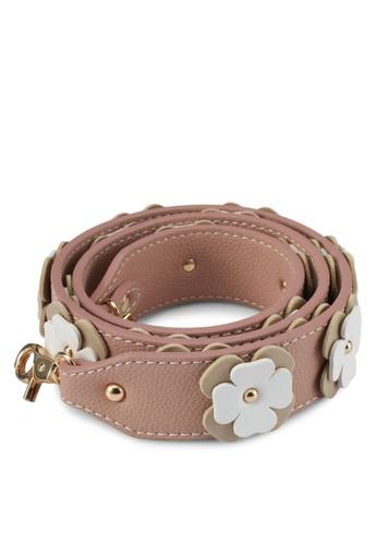 Christy Ng beige Rebel Beige Floral Shoulder Strap CH330AC0SAFUMY_1
