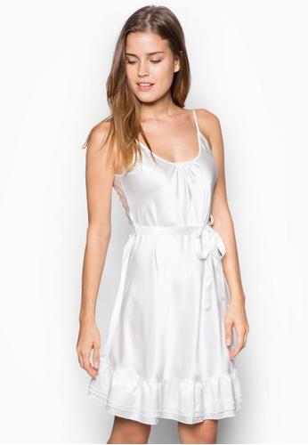 Impression white Satin Nightdress IM021AA45HFASG_1