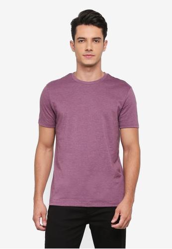 Burton Menswear London purple Purple Marl Crew Neck T-Shirt FDA61AAF64D130GS_1