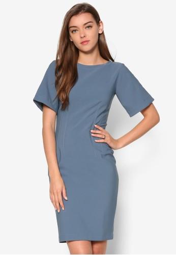 V 字esprit地址背修身鉛筆連身裙, 服飾, 洋裝