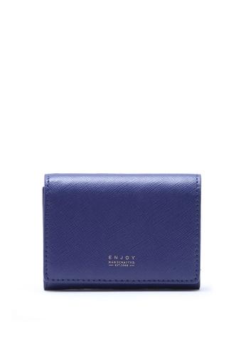 Enjoybag Flynn Smart's Saffiano Leather Card Holder EN763AC50PIFHK_1