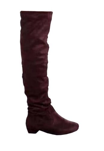 Twenty Eight Shoes 褐色 矮跟過膝靴 VB618 TW446SH2VFPOHK_1