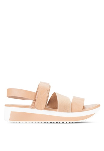 Nose beige Casual Strappy Wedge Sandals NO327SH52IJJMY_1