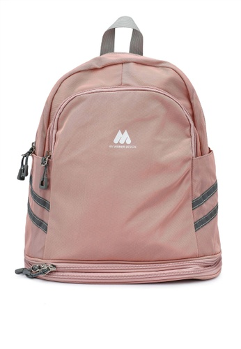 Bagstationz pink Multipurpose Backpack with Shoe Storage ECEFAACC9EEA49GS_1