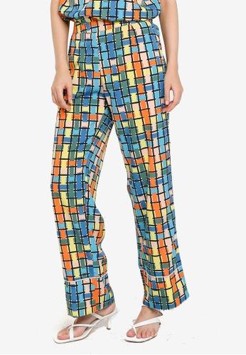 Compania Fantastica multi Multicolour Check Trousers 88FE7AAC88C403GS_1