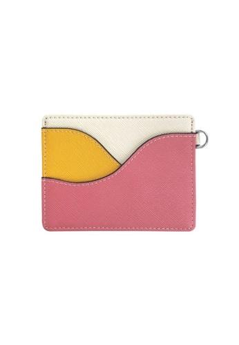 Klosh pink and orange Genuine Leather RFID Card Case (Wave Orange and Pink) 8F139ACF97A57EGS_1