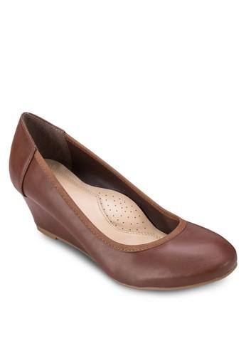 圓頭esprit香港分店地址楔形跟淑女鞋, 女鞋, 鞋