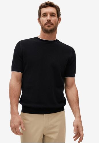 MANGO Man black Modal Cotton Jersey T-Shirt 974D0AAD509CC7GS_1