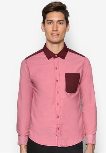 拼色長袖襯衫, 服esprit outlet 台中飾, 襯衫