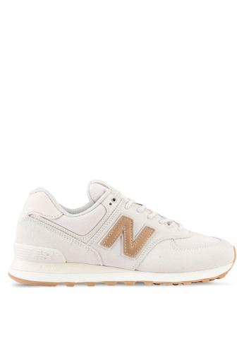 New Balance brown 574 Classic Lifestyle Sneakers NE323SH0SXNNMY_1