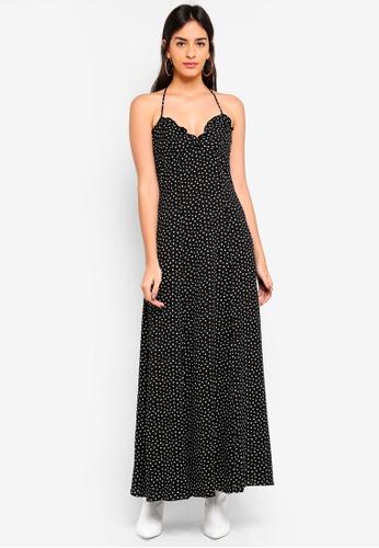 Max Studio multi Printed Spaghetti Strap Bubble Crepe Dress D1F85AA8482099GS_1