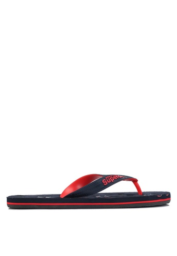 Superdry red and navy TRICOLOUR FLIP FLOP C1564SH3BEAD9EGS_1