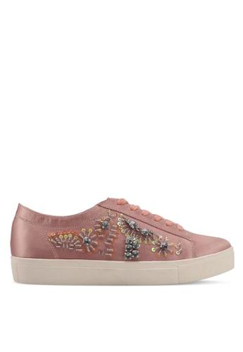 Velvet pink Embellished Sneakers A33B9SHF840959GS_1