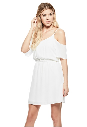 GUESS white Guess Makena Cold-Shoulder Dress 91969AA0F2B51CGS_1