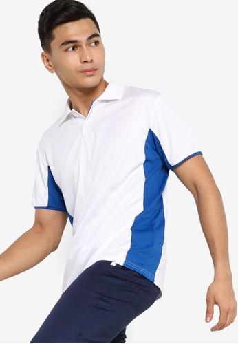 ZALORA ACTIVE white Active Contrast Detail Polo Shirt C11E2AAB8380B1GS_1