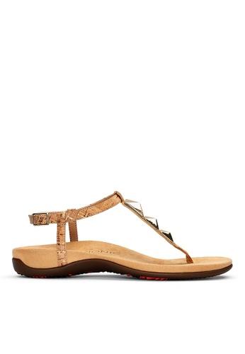 Vionic beige Nala T-Strap Sandal 3D89ESH5D9CAE0GS_1